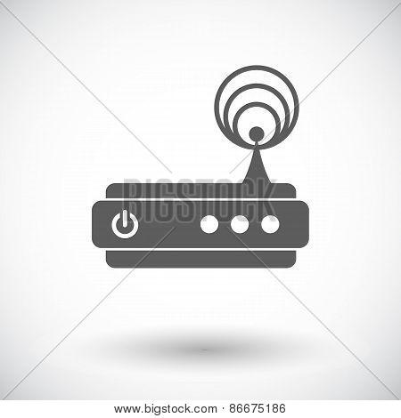 Router single icon.