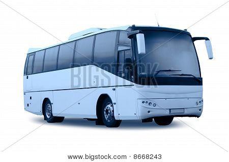Passenger Bus Isolated, Monochromatic