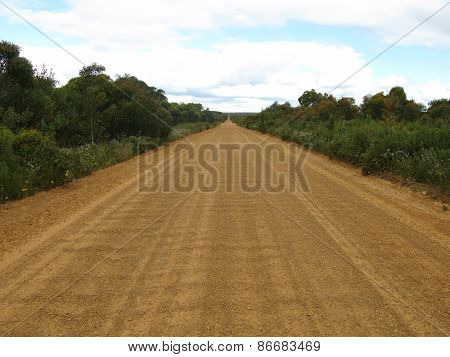 Playford highway like a washboard