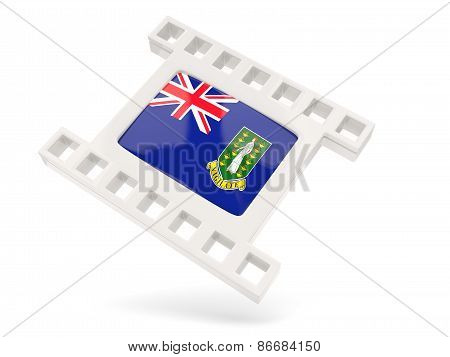 Movie Icon With Flag Of British Virgin Islands