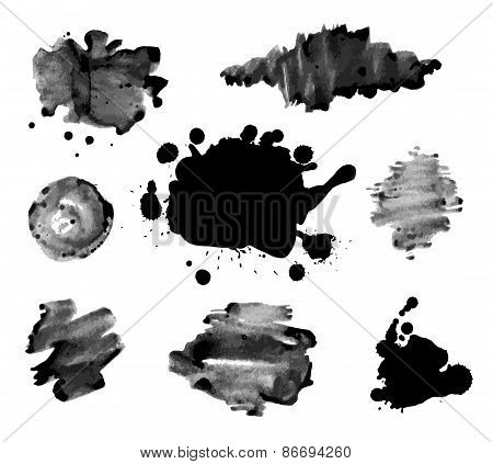 Abstract ink paint texture vector