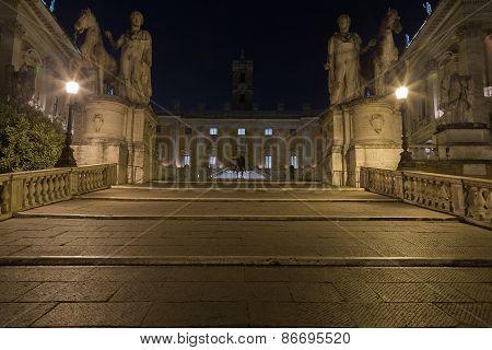 Path Leading To The Musei Capitolini