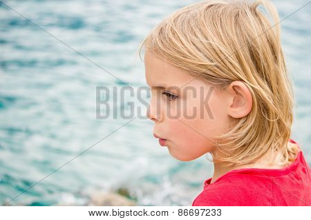 Pretty Little Girl Whistling By The Lake