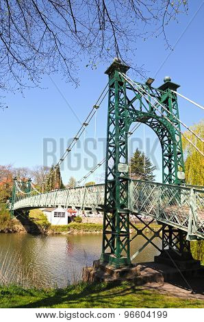 Porthill Suspension Bridge, Shrewsbury.