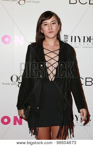 LOS ANGELES - MAY 7:  Zelda Williams at the NYLON Magazine Young Hollywood Issue Party  at the HYDE Sunset on May 7, 2015 in West Hollywood, CA