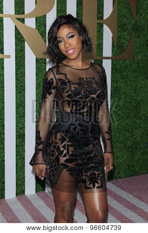 LOS ANGELES - JUN 24:  Sevyn Streeter at the 2015 BET Awards Pre-Dinner at the Sunset Tower Hotel on June 24, 2015 in Los Angeles, CA