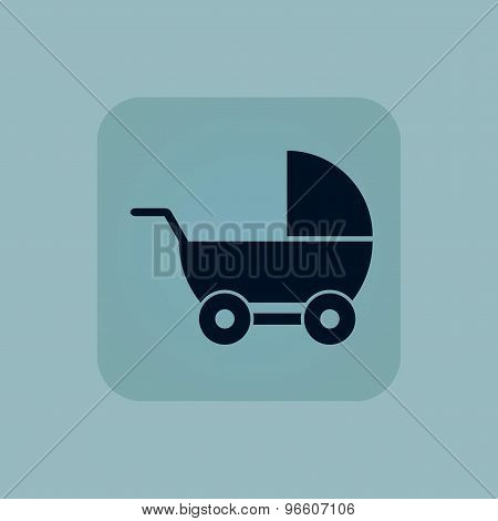 Pale blue pram icon
