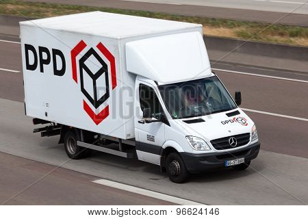 Dpd Truck On The Highway