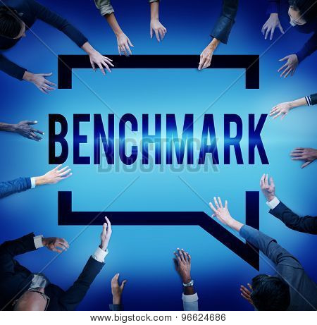 Benchmark Standard Management Improvement Benchmarking Concept poster