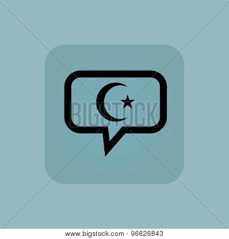 Pale blue Turkey symbol message