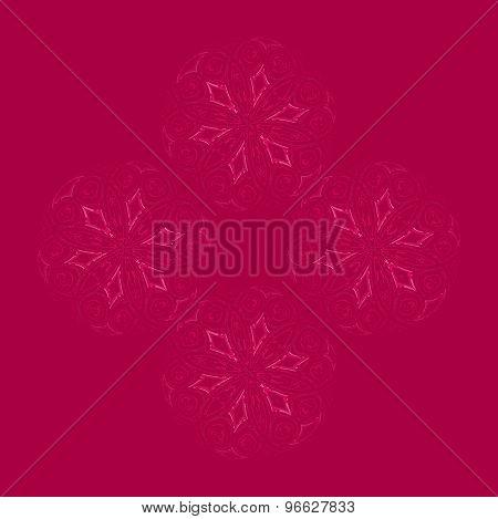 Seamless floral pattern dark red