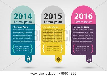 timeline & milestone company history infographic in vector style (eps10) poster