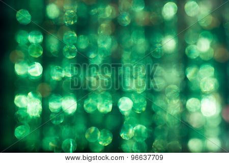 Defocused Glare Of The Sun Through The Plexiglas Abstract Green Background