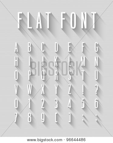 Flat Font With Long Shadow Effect.