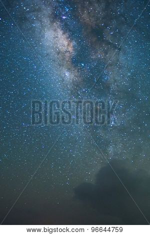 Amazing Star Night - night scene milky way background in the galaxy poster