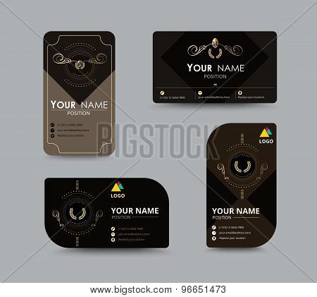 Luxury Business Card Design Collection. Vector Illustration.
