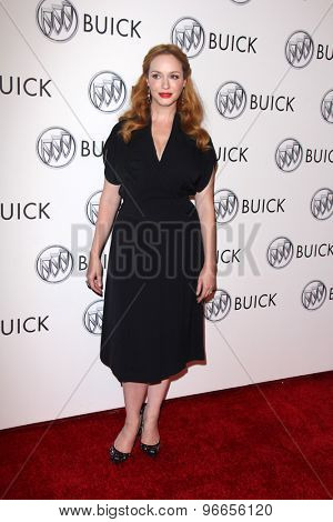 LOS ANGELES - JUL 22:  Christina Hendricks at the 24 Hour Buick Happiness Test Drive Collaborators  at the Ace Museum on July 22, 2015 in Los Angeles, CA