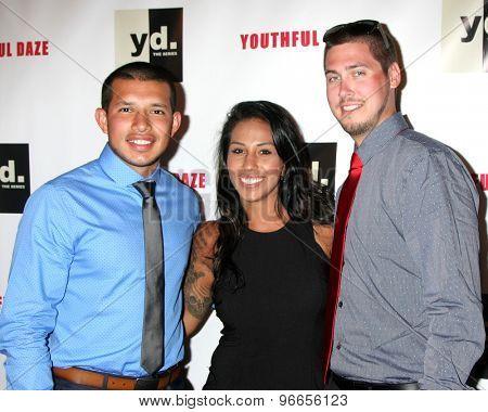 LOS ANGELES - JUL 22:  Javi Marroquin, Gigi Hanna, Jeremy Calvert at the
