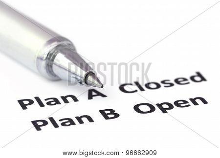 Emphasis On Plan B