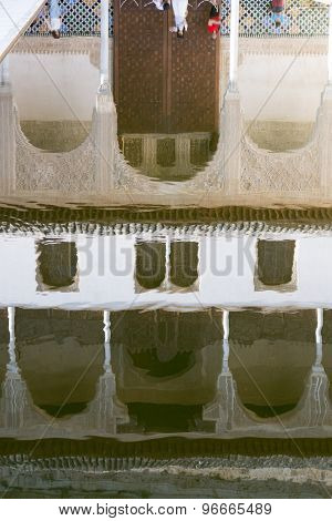 Water Reflection Of Alhambra