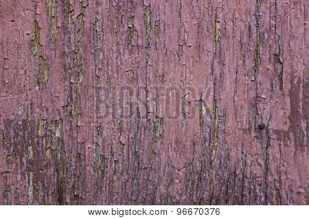 Wooden Surface With Cracky Paint