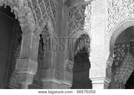Corner In Black And White At Alhambra