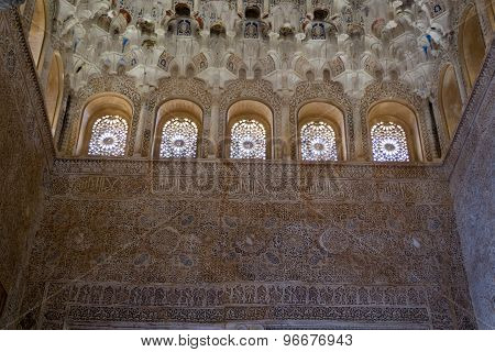 Windows By The Celling In Alhambra