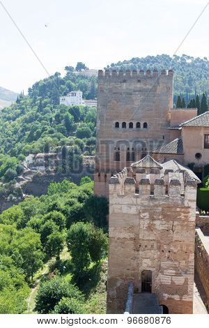 Alhambra On Top Of The Hill