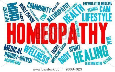 Homeopathy Word Cloud