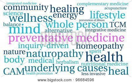 Preventative Medicine Word Cloud