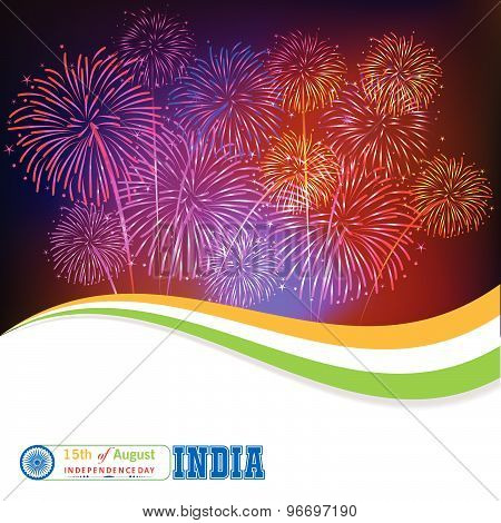 15th of August celebration concept with ashoka wheel poster