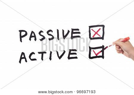Passive Or Active