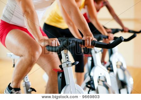Bicycle in gym
