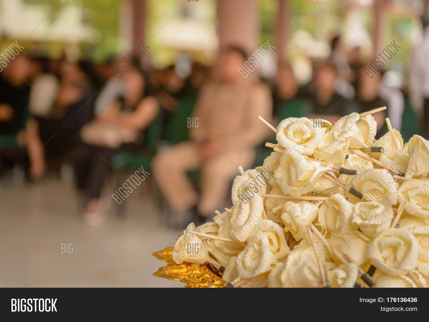 Sandalwood flowers artificial image photo bigstock sandalwood flowers or artificial flowers or wood cremation flower kind of wood flower to be placed izmirmasajfo Images
