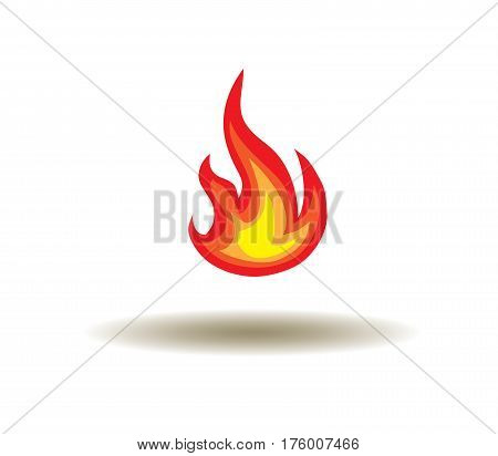 vector illustration of a fire icon isolated