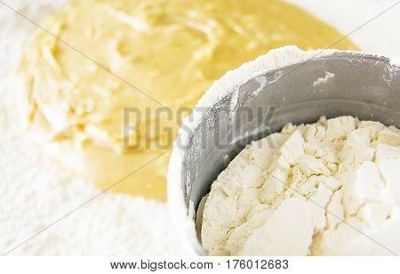 Dough for cake thick dough dough for flour making dough