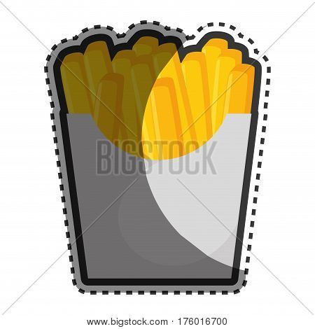 french fries portion icon vector illustration design