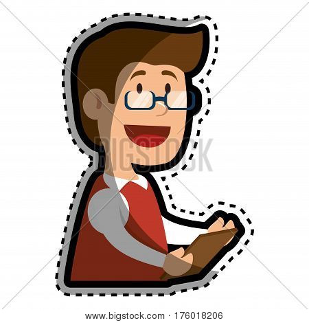psychologist avatar character icon vector illustration design