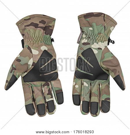 military gloves, tactical gloves, protective gloves isolated white background