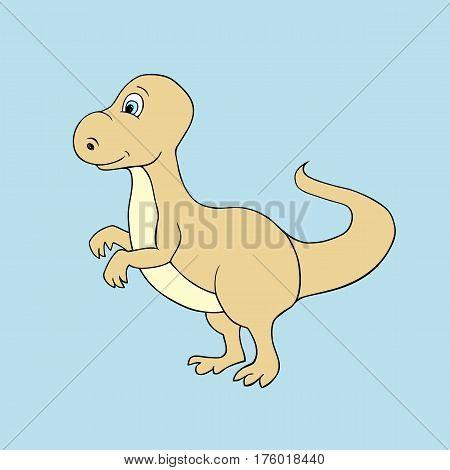 illustration of  baby dino. Isolated cartoon animal