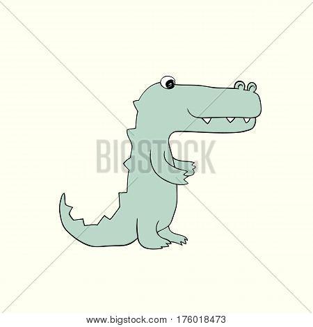 illustration of  baby croc. Isolated cartoon animal