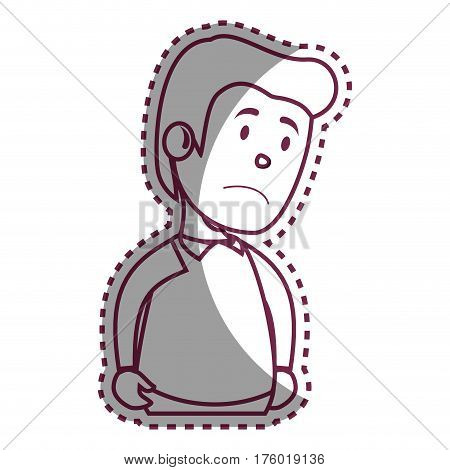 Psychiatric patient avatar character vector illustration design