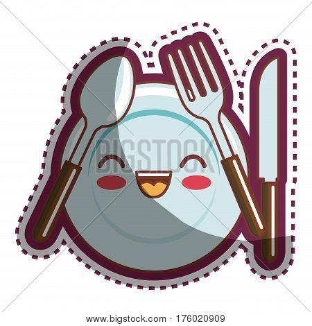 kitchen utensils cartoon character vector illustration design