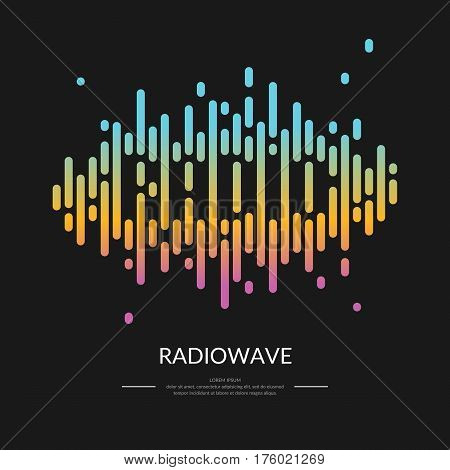 The image of the sound wave. Logo Radio. Vector illustration.