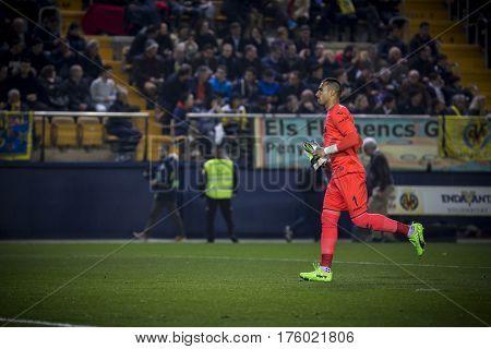VILLARREAL, SPAIN - FEBRUARY 26: Sergio Asenjo during La Liga match between Villarreal CF and Real Madrid at Estadio de la Ceramica on February 26, 2017 in Villarreal, Spain