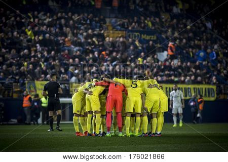 VILLARREAL, SPAIN - FEBRUARY 26: Villarreal players during La Liga match between Villarreal CF and Real Madrid at Estadio de la Ceramica on February 26, 2017 in Villarreal, Spain