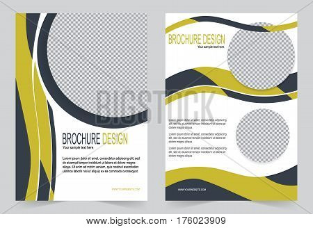 Brochure template Flyer design black and yellow template