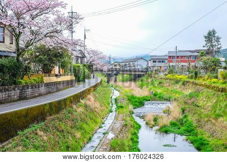 Yufuin was a town located in Oita District Oita Prefecture Japan. It is famous for natural hot spring spas.