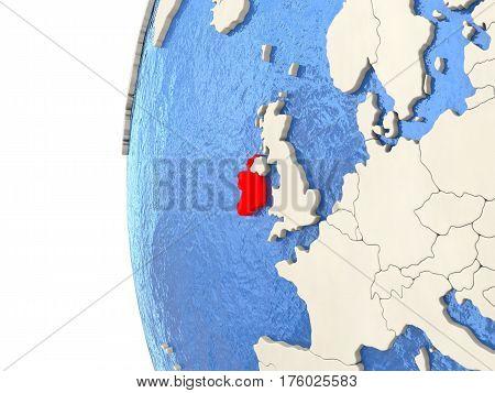 Ireland On 3D Globe