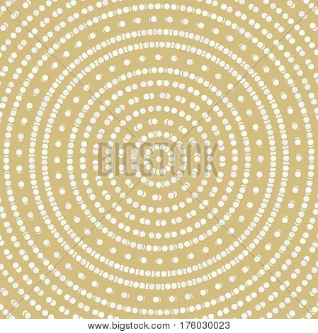 Geometric modern round golden pattern. Fine ornament with dotted elements